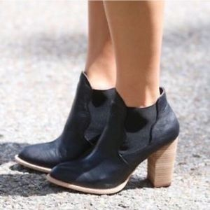 Chinese Laundry leather ankle heeled booties